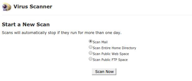 Start a new scan