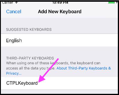 Custom keyboard Extensions in iOS
