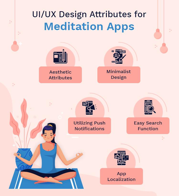 UI UX attributes of meditation app