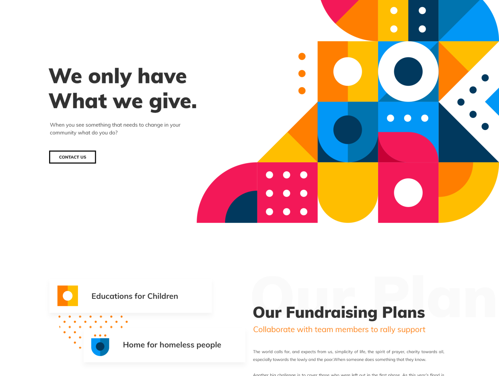 Setting up The Fundraising Website