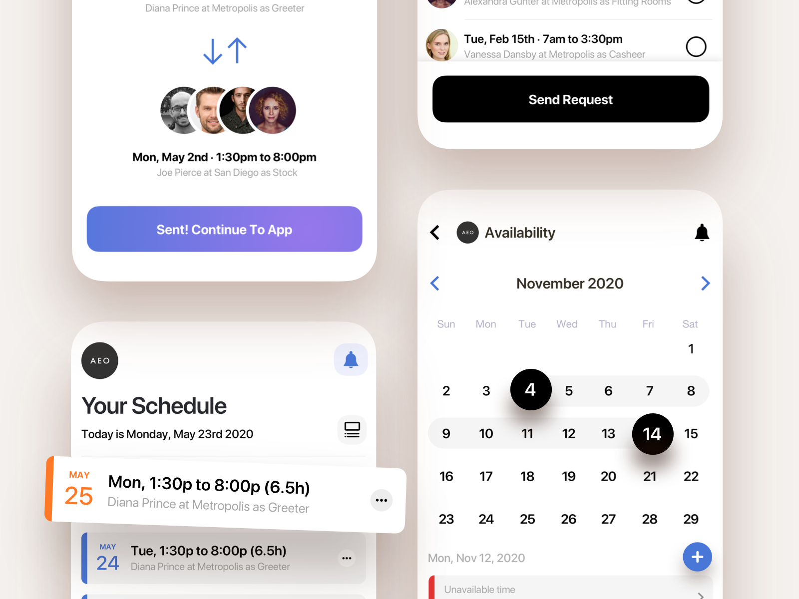 A Scheduler With an In-app Calendar